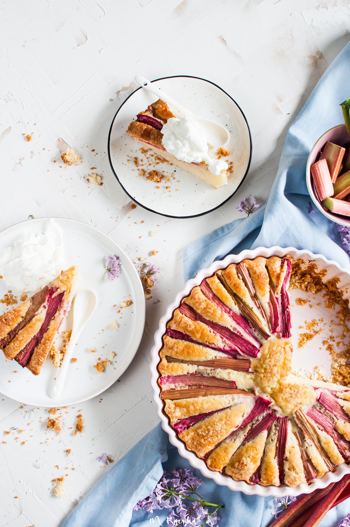 ciasto ucierane z rabarbarem 2
